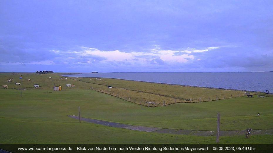 Langeneß – Blick von Norderhörn Webcam Live